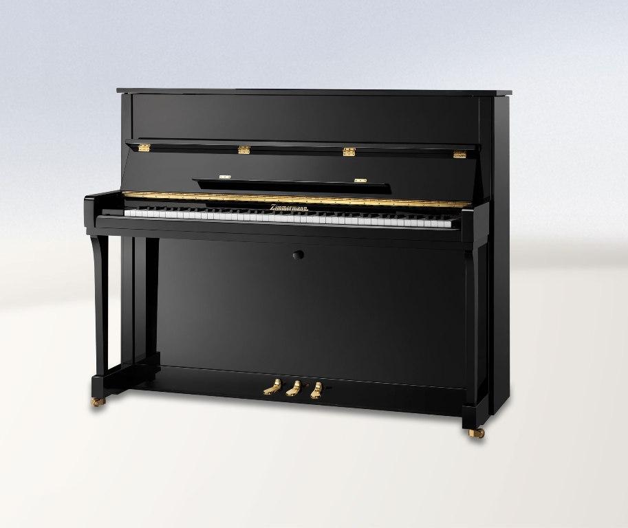 Zimmermann klavier hz 120 schwarz pianohaus wedell im for Klassische holzverbindungen zimmermann